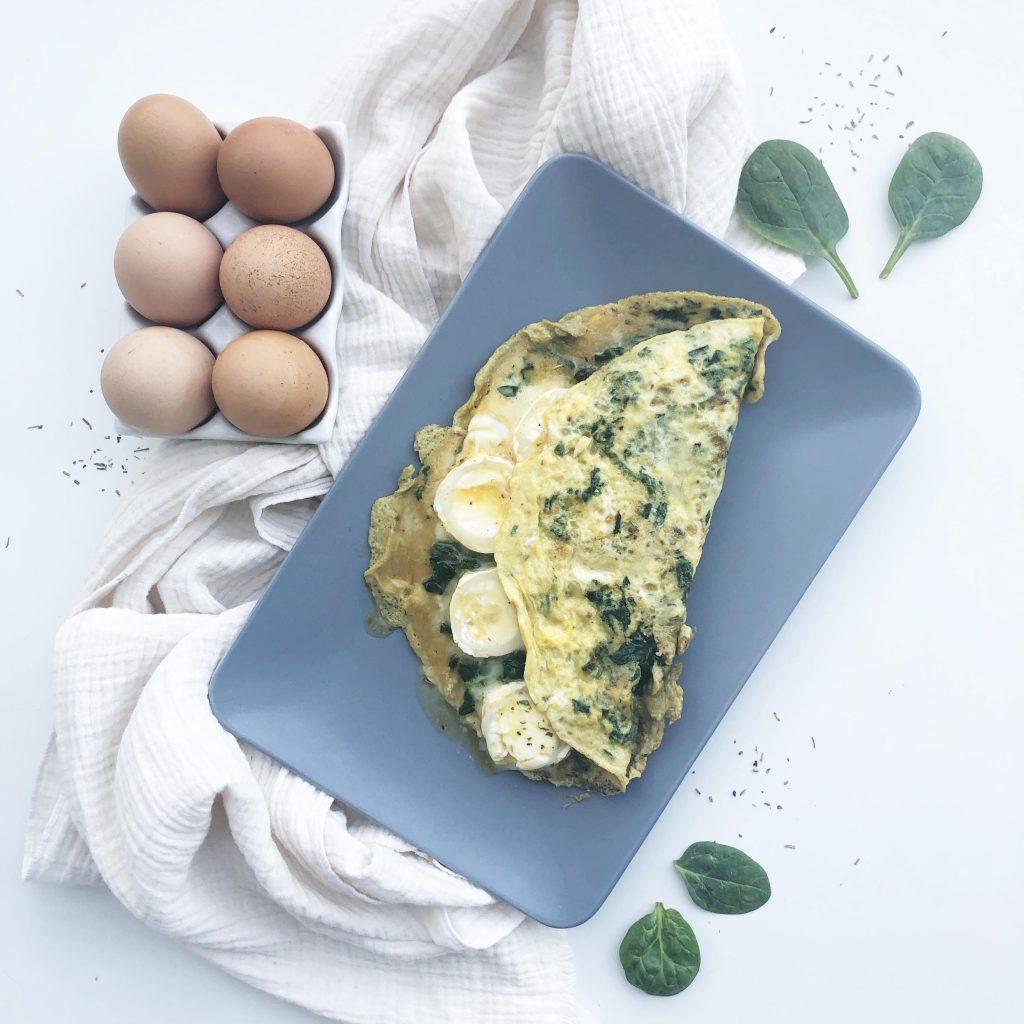 omelette verte - cuisine express