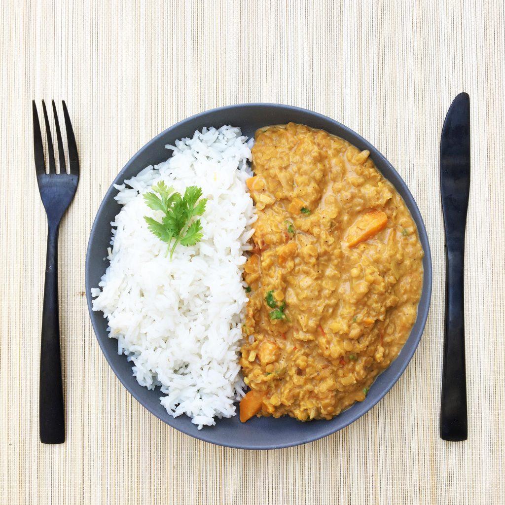 recettes végétariennes : curry de lentilles